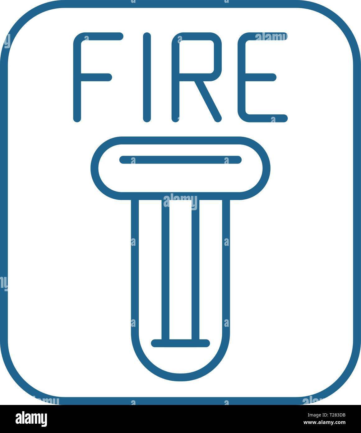 fire safety line icon