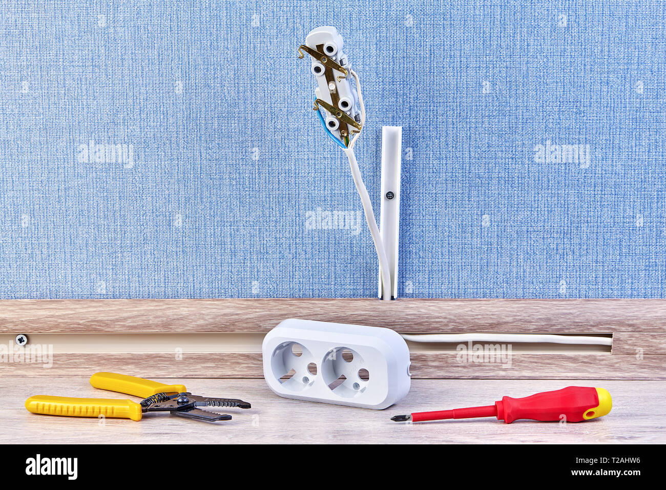 hight resolution of electric installation work electrical plug house wiring with hand tools and pattress box