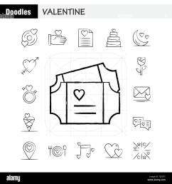 valentine hand drawn icons set for infographics mobile ux ui kit and print design include cd disk love valentine romantic hand love valentin [ 1300 x 1390 Pixel ]