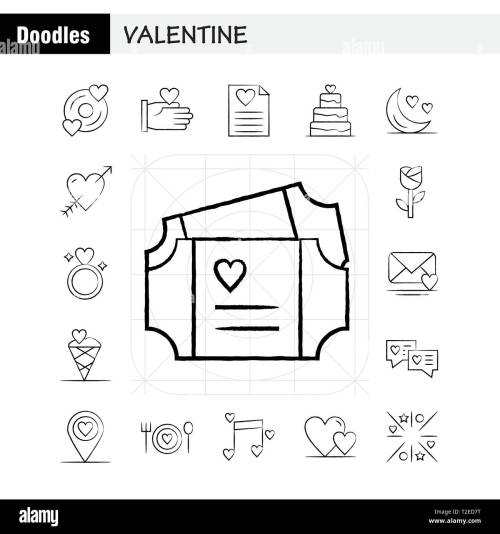 small resolution of valentine hand drawn icons set for infographics mobile ux ui kit and print design include cd disk love valentine romantic hand love valentin