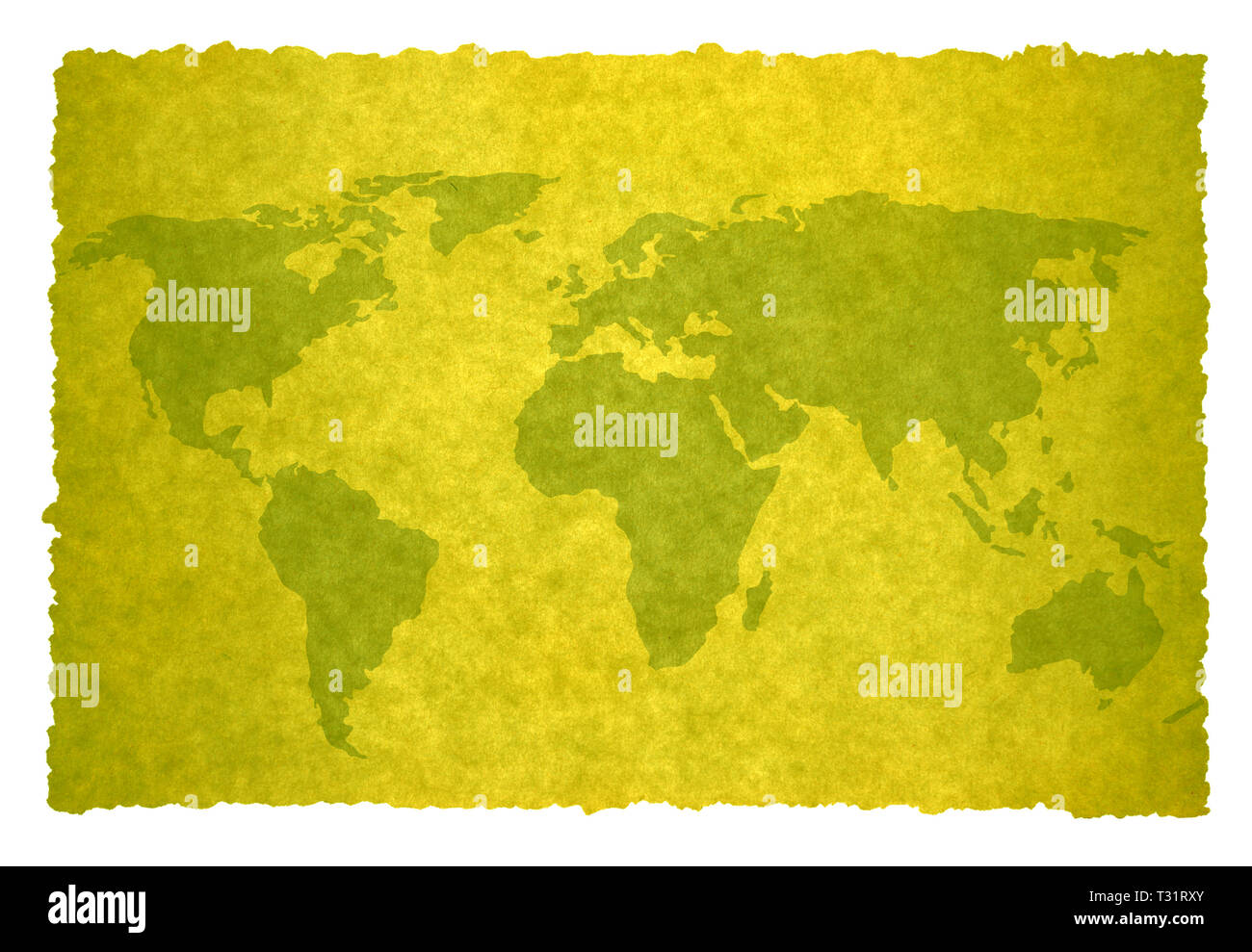 old world map on