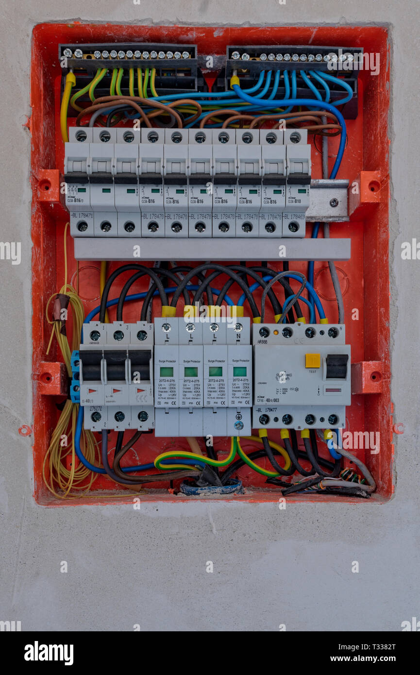 medium resolution of electric box with fuses stock image