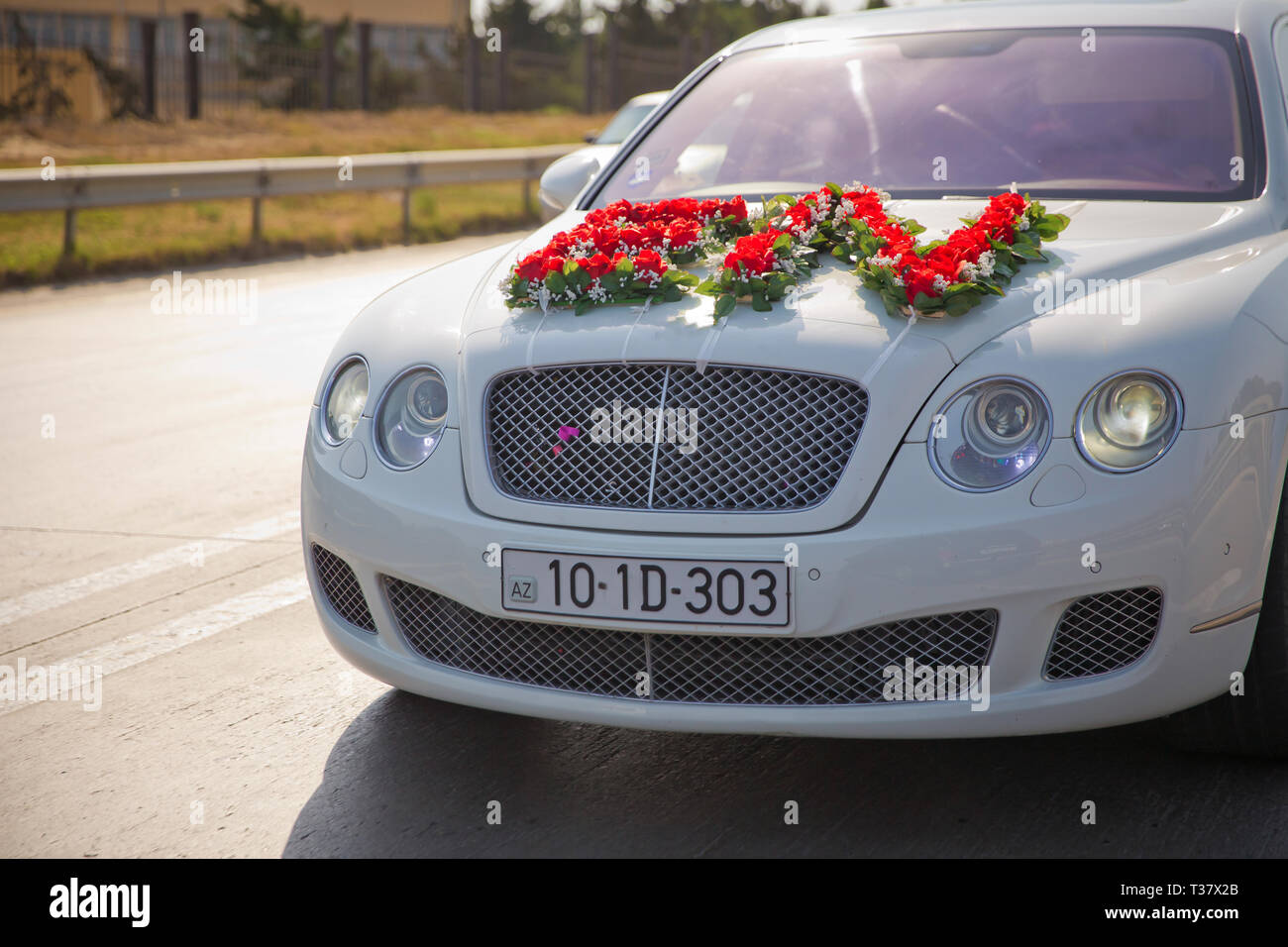 Decoration Car Hood Elegant Wedding Cars With Decor On The Hood
