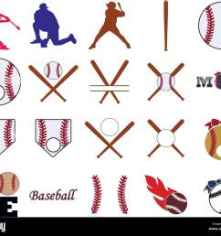 collection of baseball illustrations stock image [ 1300 x 1115 Pixel ]