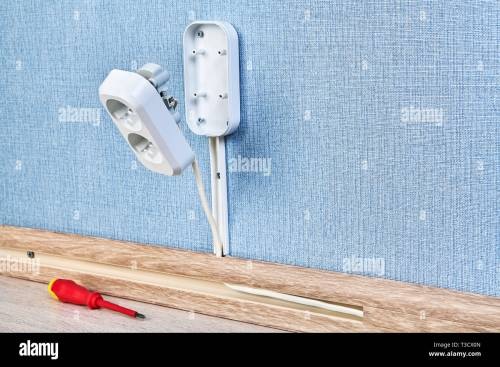 small resolution of duplex receptacle outlet in process of mounting residential wiring work close up
