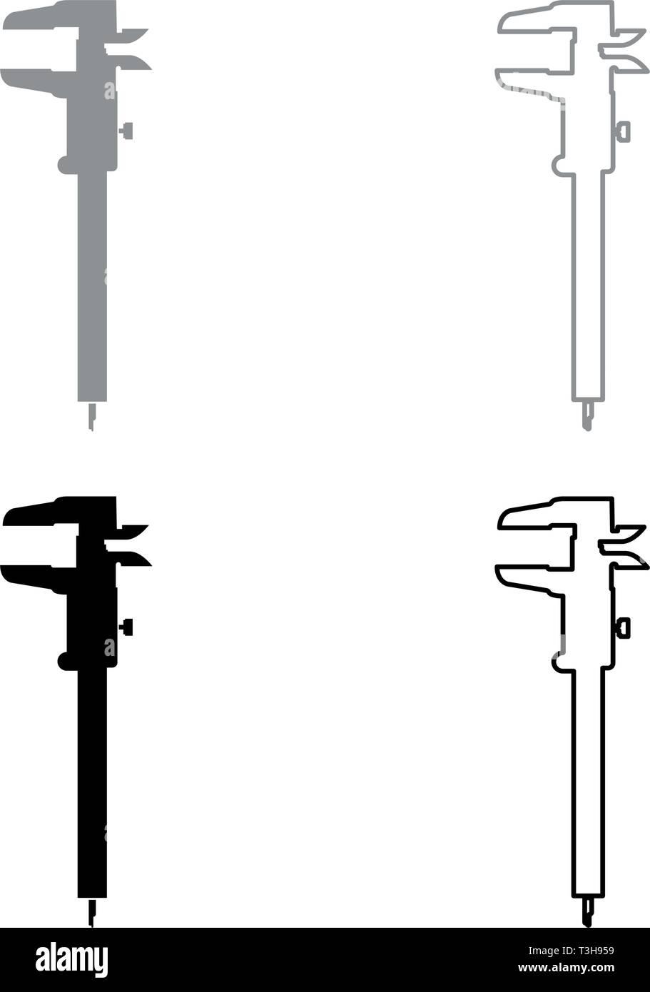 medium resolution of caliper hand caliper sliding caliper vernier caliper caliper gage slide gage trammel icon set black grey