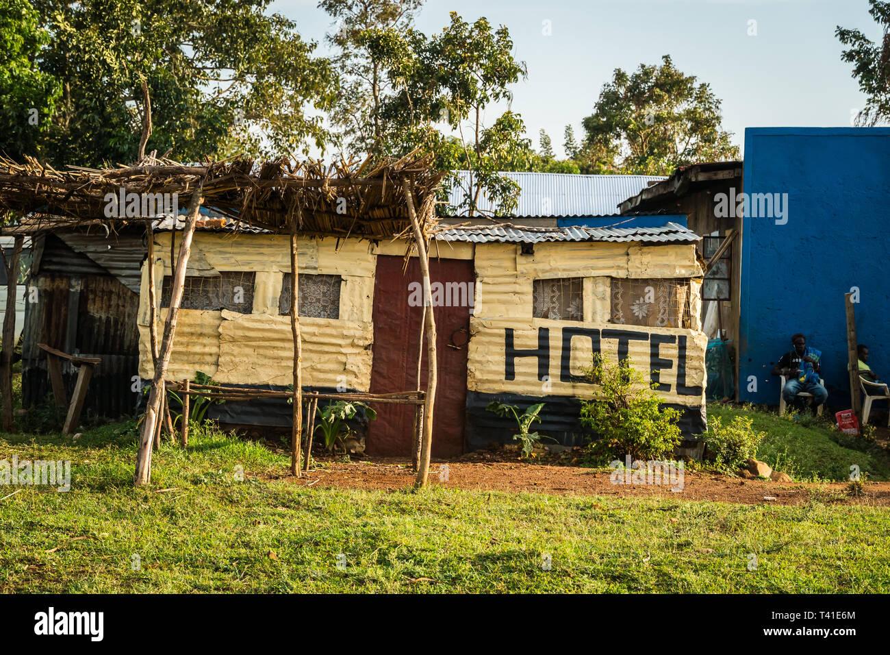 Near Kisumu Kenya March 8 2019 A Local Hotel In The