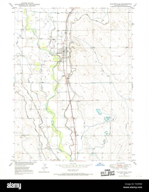 small resolution of usgs topo map colorado co platteville 234147 1949 24000 restoration stock image
