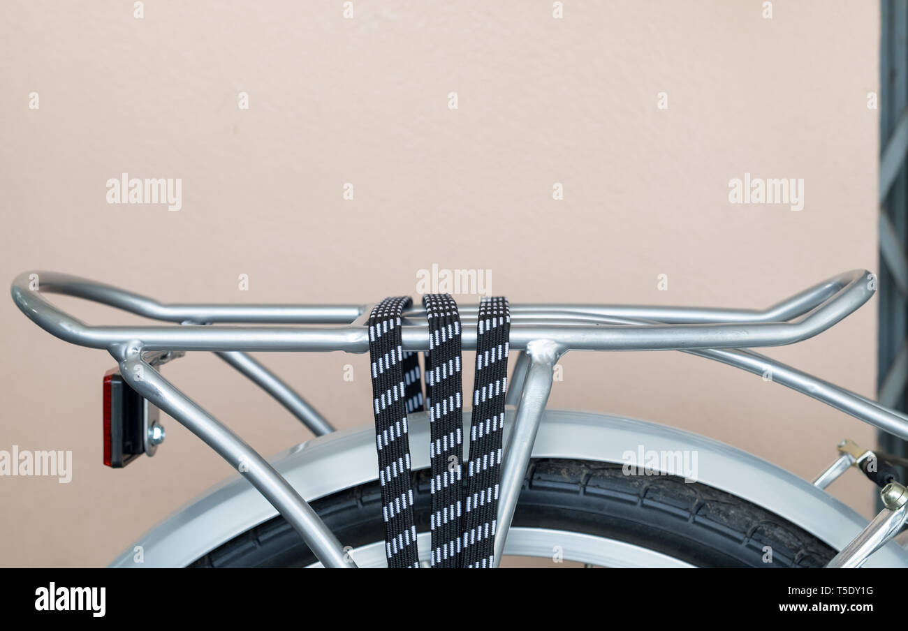 hight resolution of bicycle rack rope lock rear silver