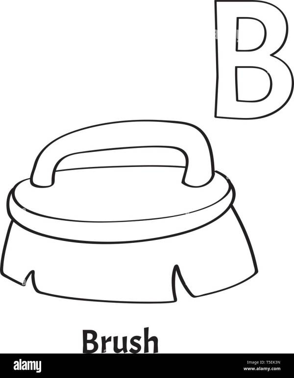 letter b coloring page # 21