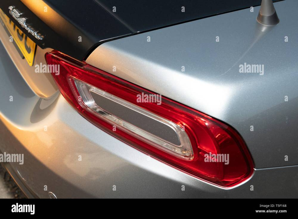 medium resolution of 2018 fiat 124 abarth spider rear light stock image