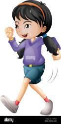 Isolated girl character walking illustration Stock Vector Image & Art Alamy