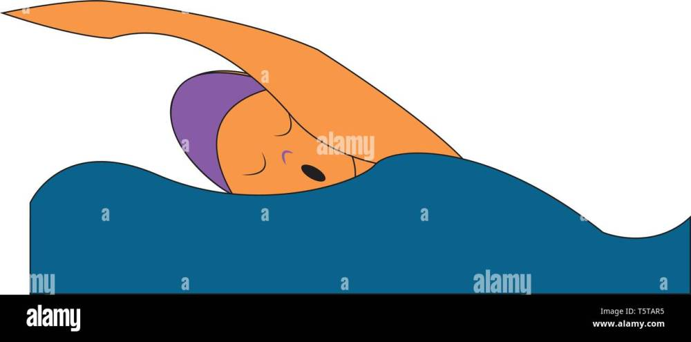 medium resolution of clipart of a swimmer in a purple colored swimming suit is swimming in the sea while his eyes closed vector color drawing or illustration