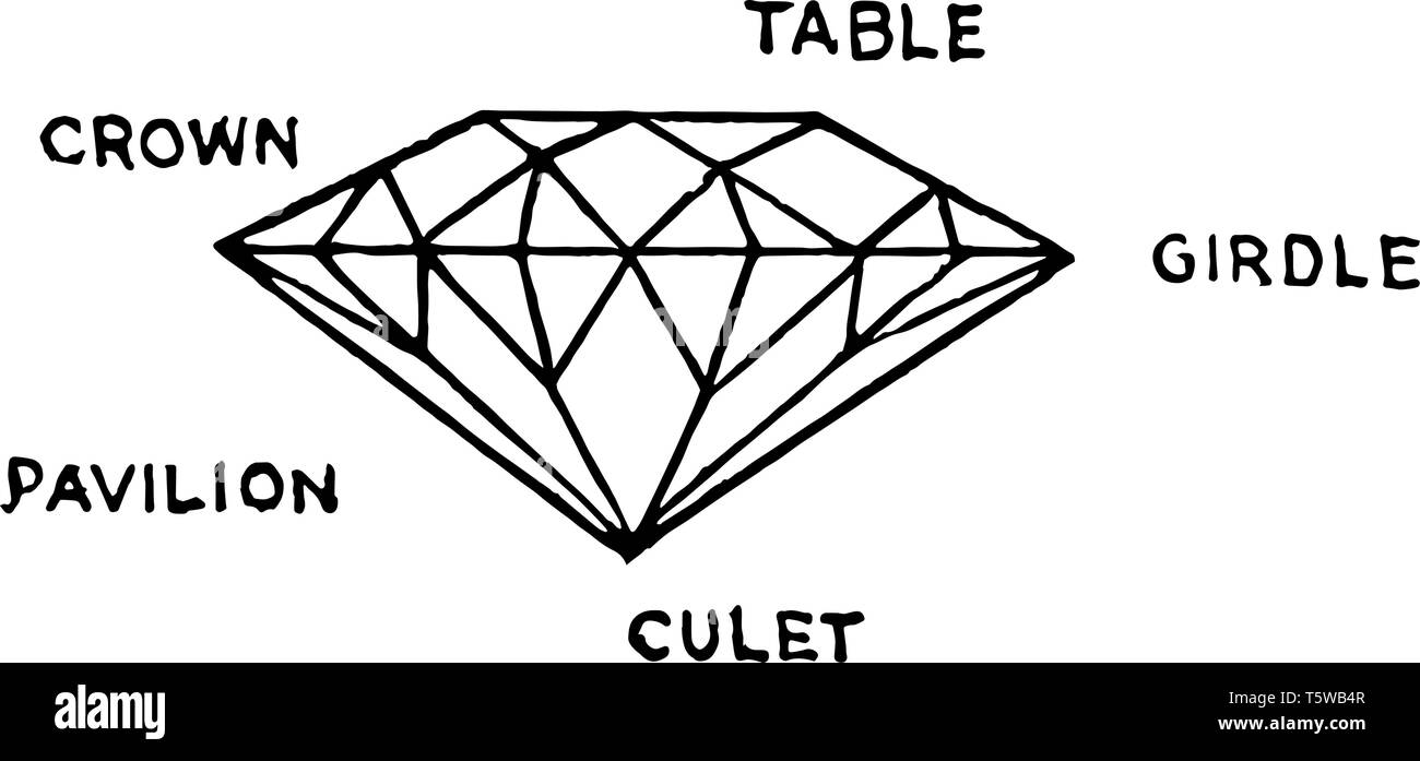 hight resolution of this diagram represents diamond cut vintage line drawing or engraving illustration