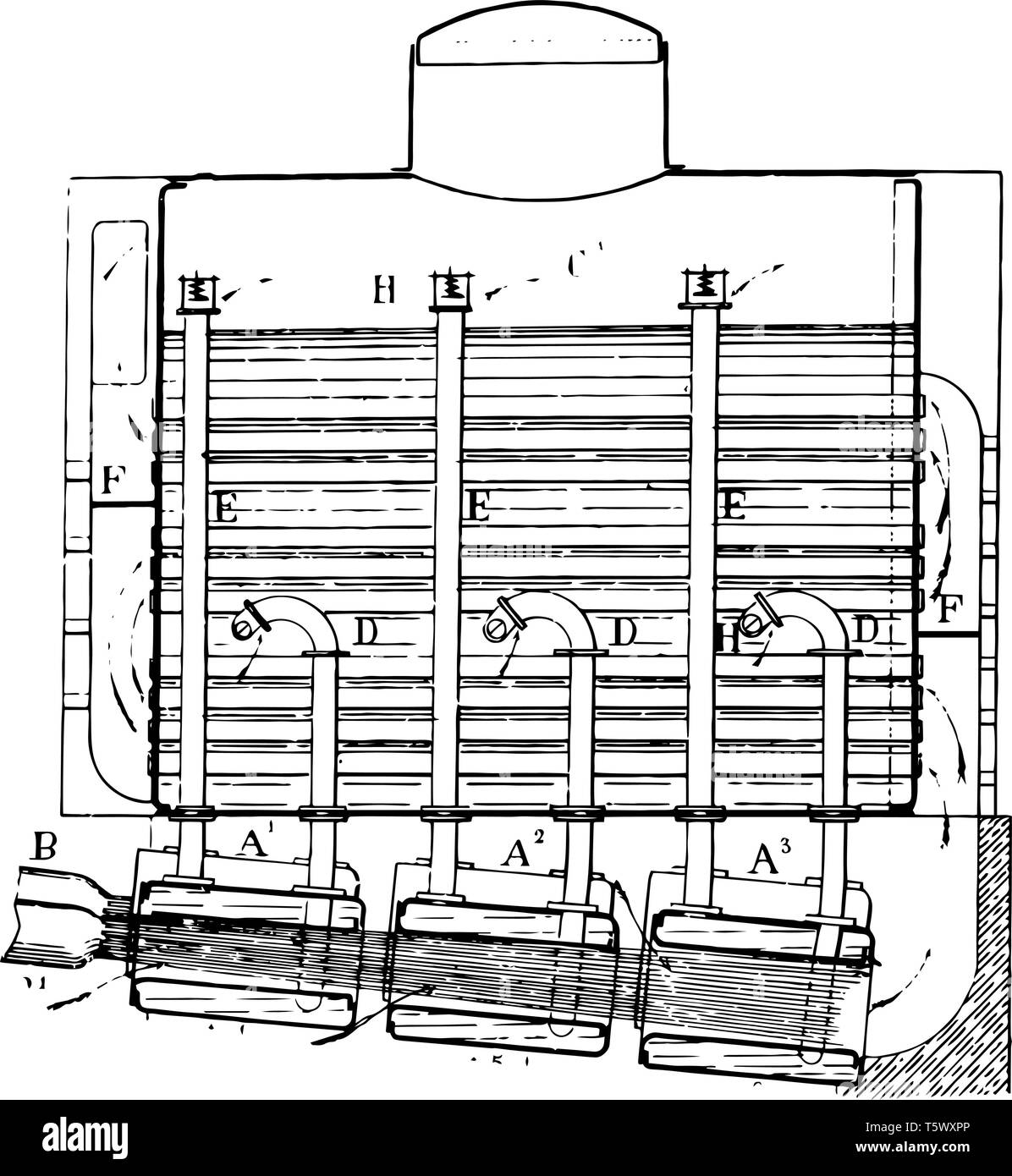 hight resolution of this illustration represents boiler combination steam generator which is used to boil water to create steam