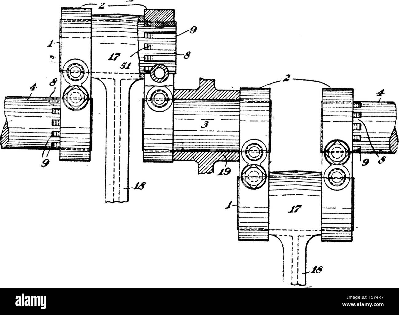 hight resolution of crank shaft is the part of an engine which translates reciprocating linear piston motion into rotation