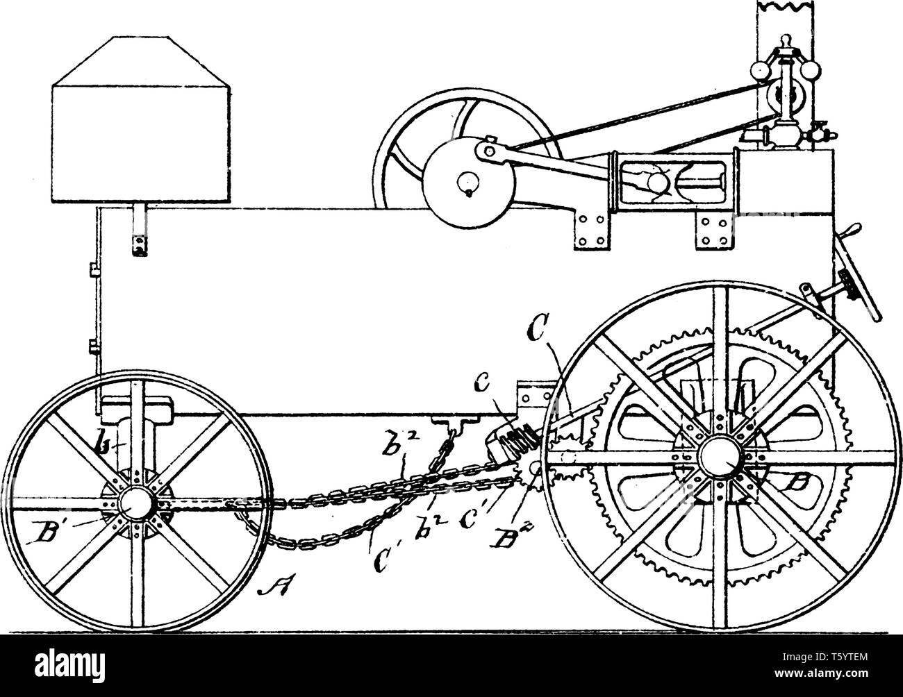 hight resolution of for wheeled road engine is features traction wheels the crank shaft is adapted to rotate continuously