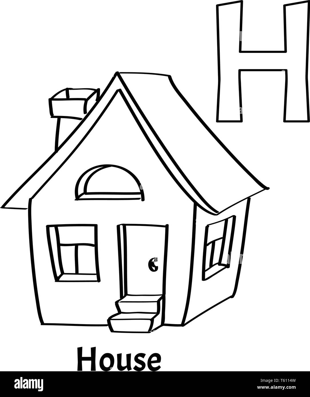 Cartoon House Black And White Stock Photos Amp Images
