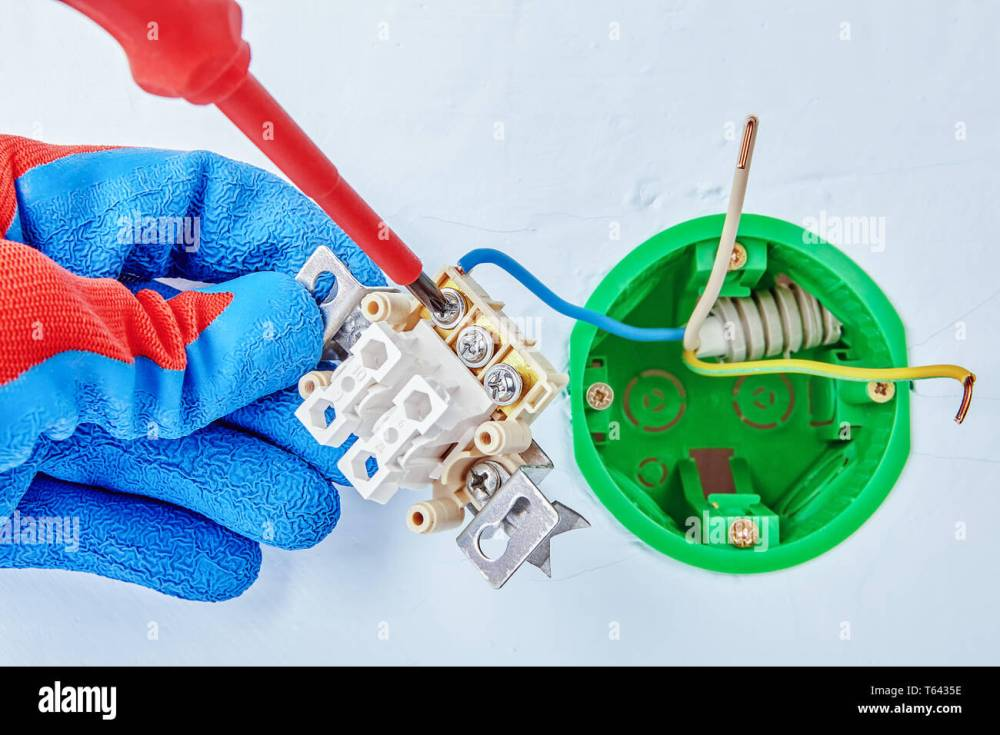 medium resolution of diy electrical work installation of light switch inside socket box in drywall stock