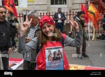 Jvp London March Day Protest Sri Lanka Tuc Marx Stock