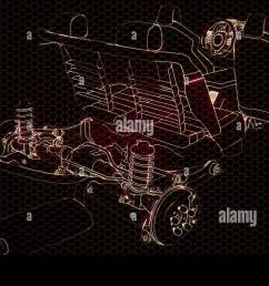 holographic animation of 3d wireframe car model with engine stock image [ 1300 x 821 Pixel ]