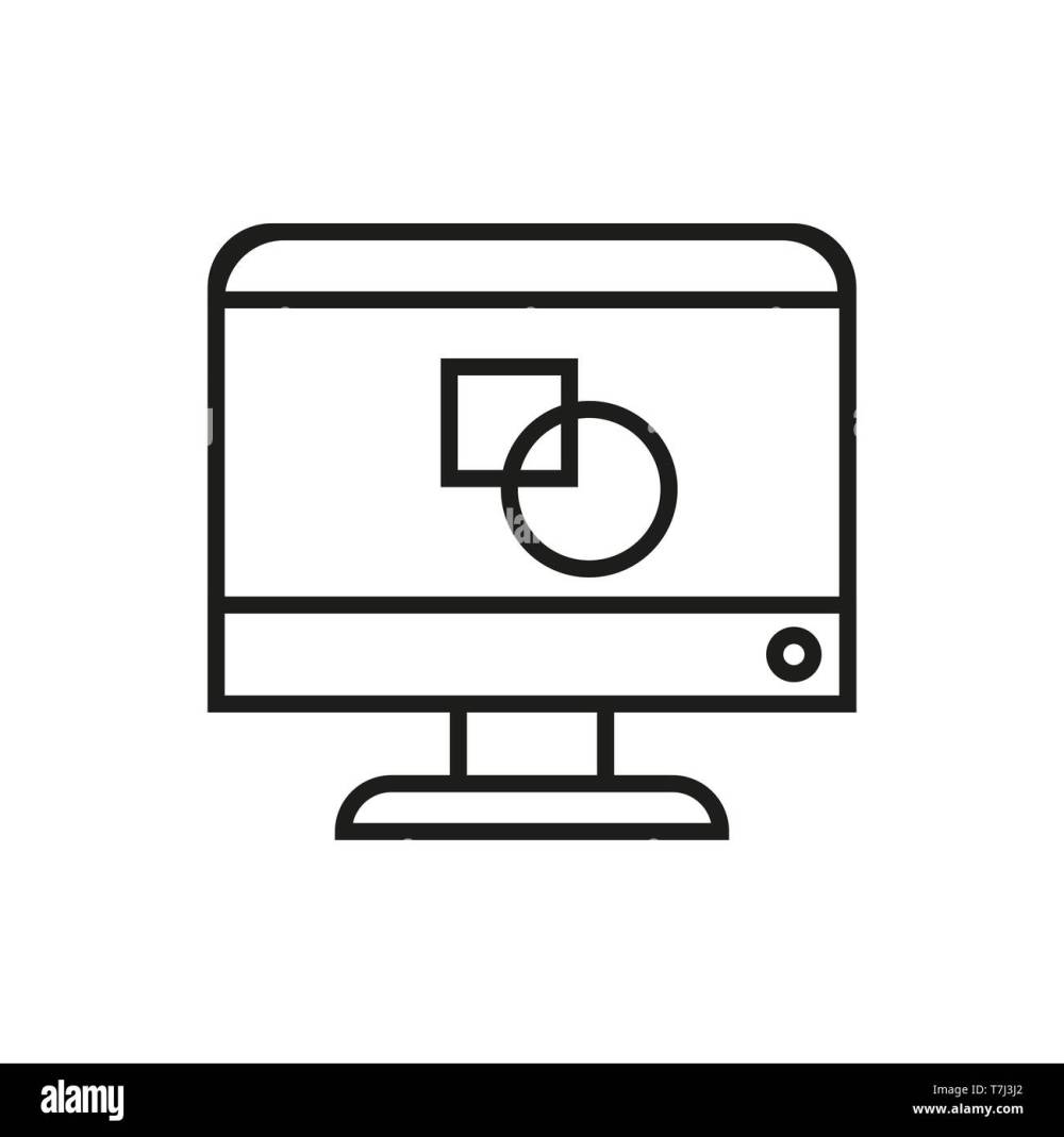 medium resolution of icon design line graphic vector outline web creative thin art pencil logo illustration drawing linear sign