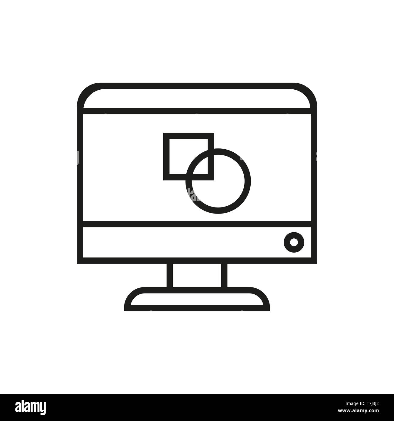 hight resolution of icon design line graphic vector outline web creative thin art pencil logo illustration drawing linear sign