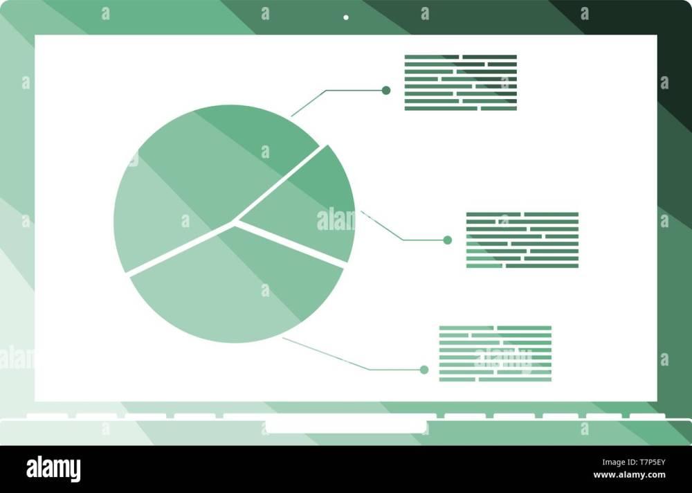 medium resolution of laptop with analytics diagram icon flat color ladder design vector illustration