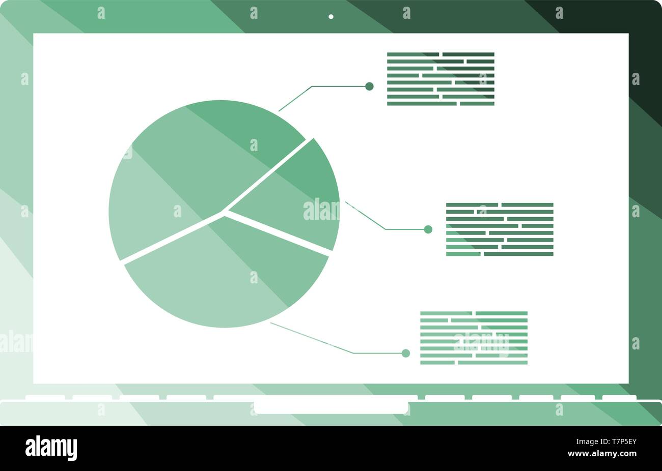 hight resolution of laptop with analytics diagram icon flat color ladder design vector illustration