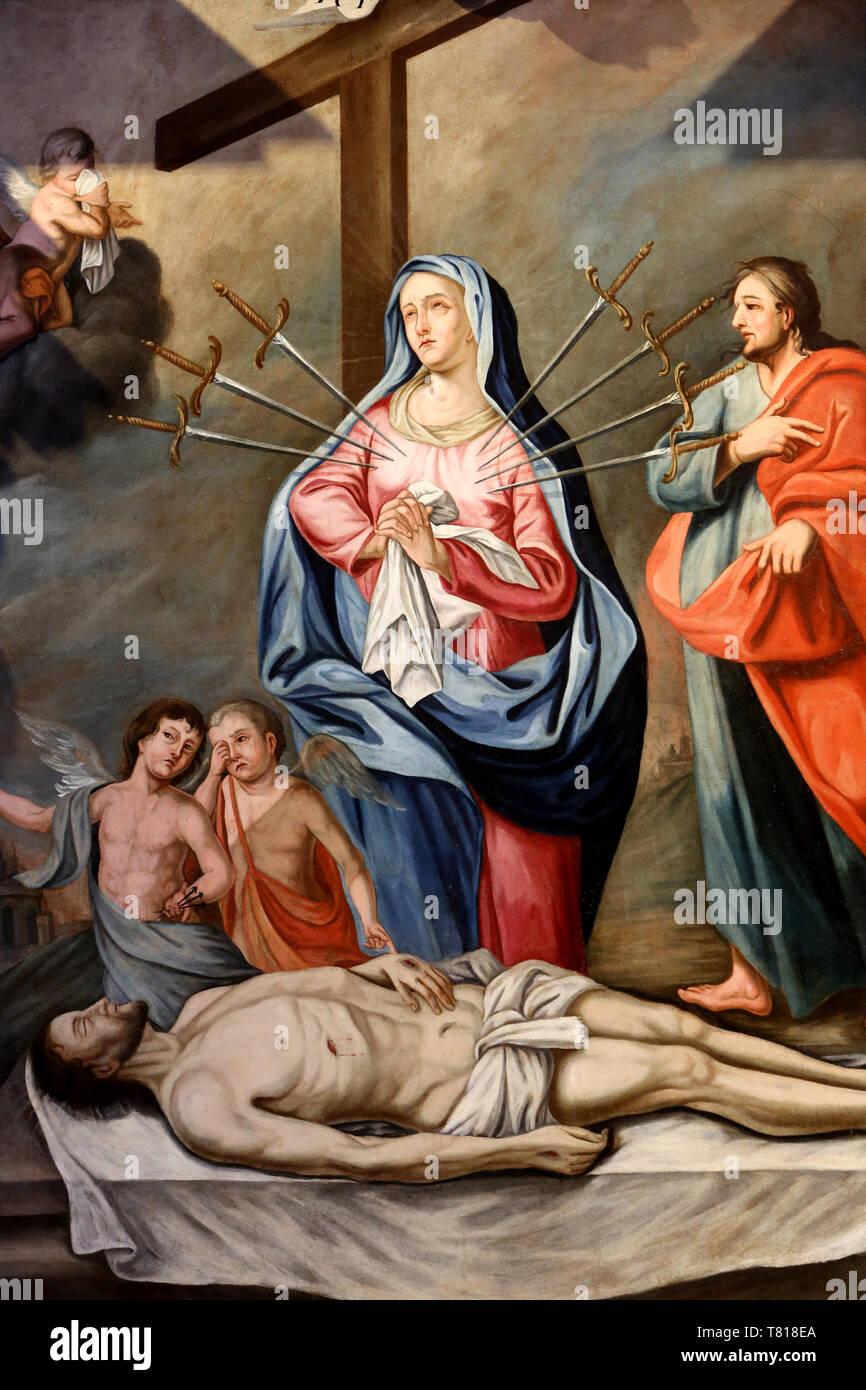 Notre Dame Des 7 Douleurs : notre, douleurs, Vierge, Douleurs., Eglise, Notre-Dame, L'Assomption., Cordon, Stock, Photo, Alamy