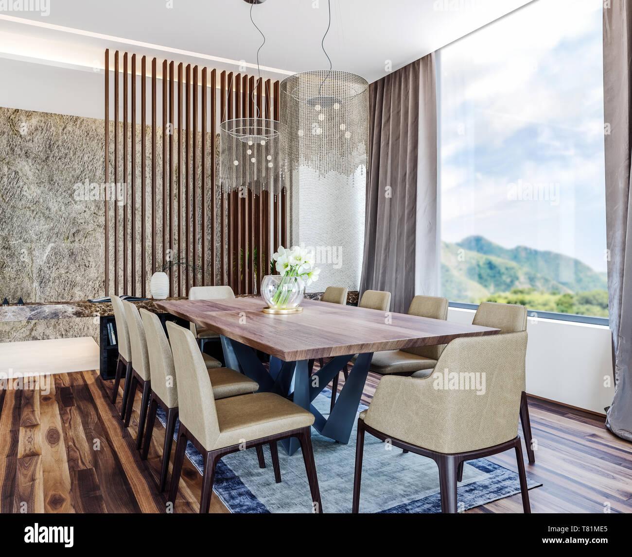 Modern Italian Interior Design Of Contemporary Dining Room