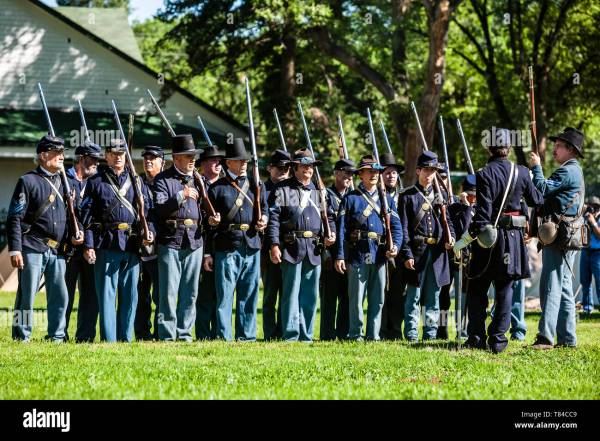 Union Troops Attention Civil War Reenactment - Year of Clean