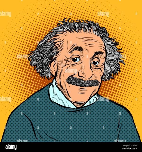 Albert Einstein Cartoon Stock &
