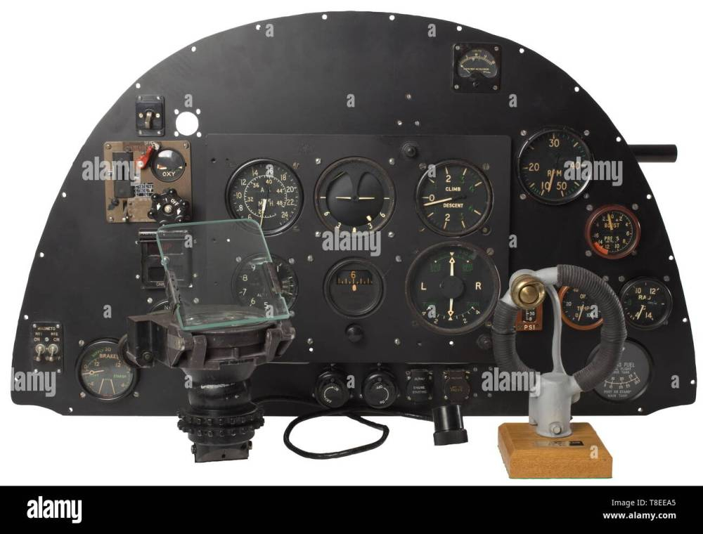 medium resolution of an instrument panel from the fighter plane supermarine spitfire mk ii a true