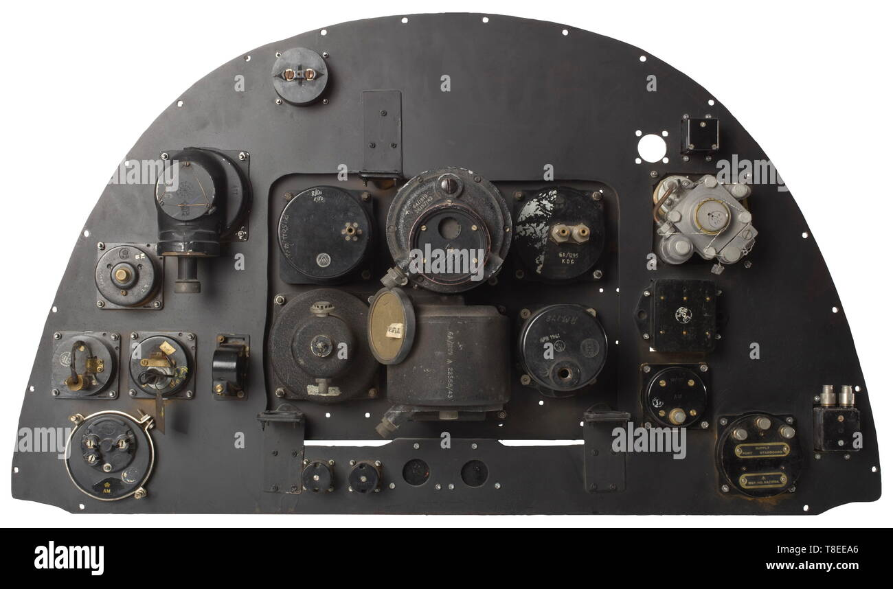 hight resolution of an instrument panel from the fighter plane supermarine spitfire mk ii a true