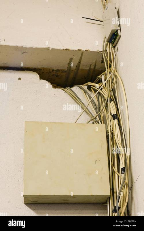 small resolution of tangled network cables and wires in server room stock image