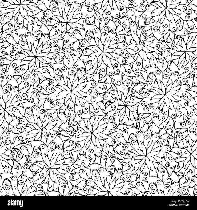 Abstract seamless pattern of mandala, coloring pages for kids and