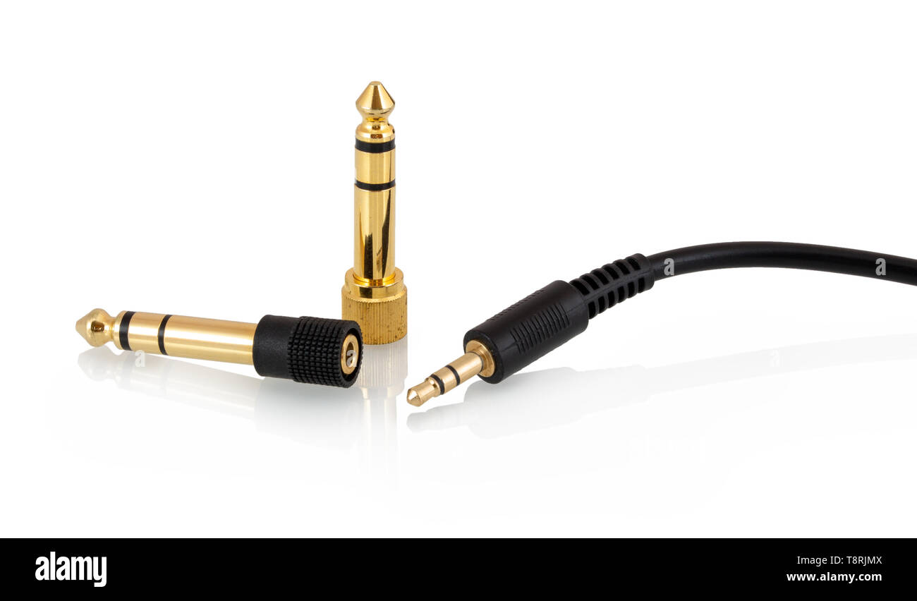 hight resolution of 3 5mm 1 8 stereo headphone jack 3 pole mini stereo headphone plug or phone connector with two 6 35 mm 1 4 male to 3 5mm 1 8 female gold plated headph