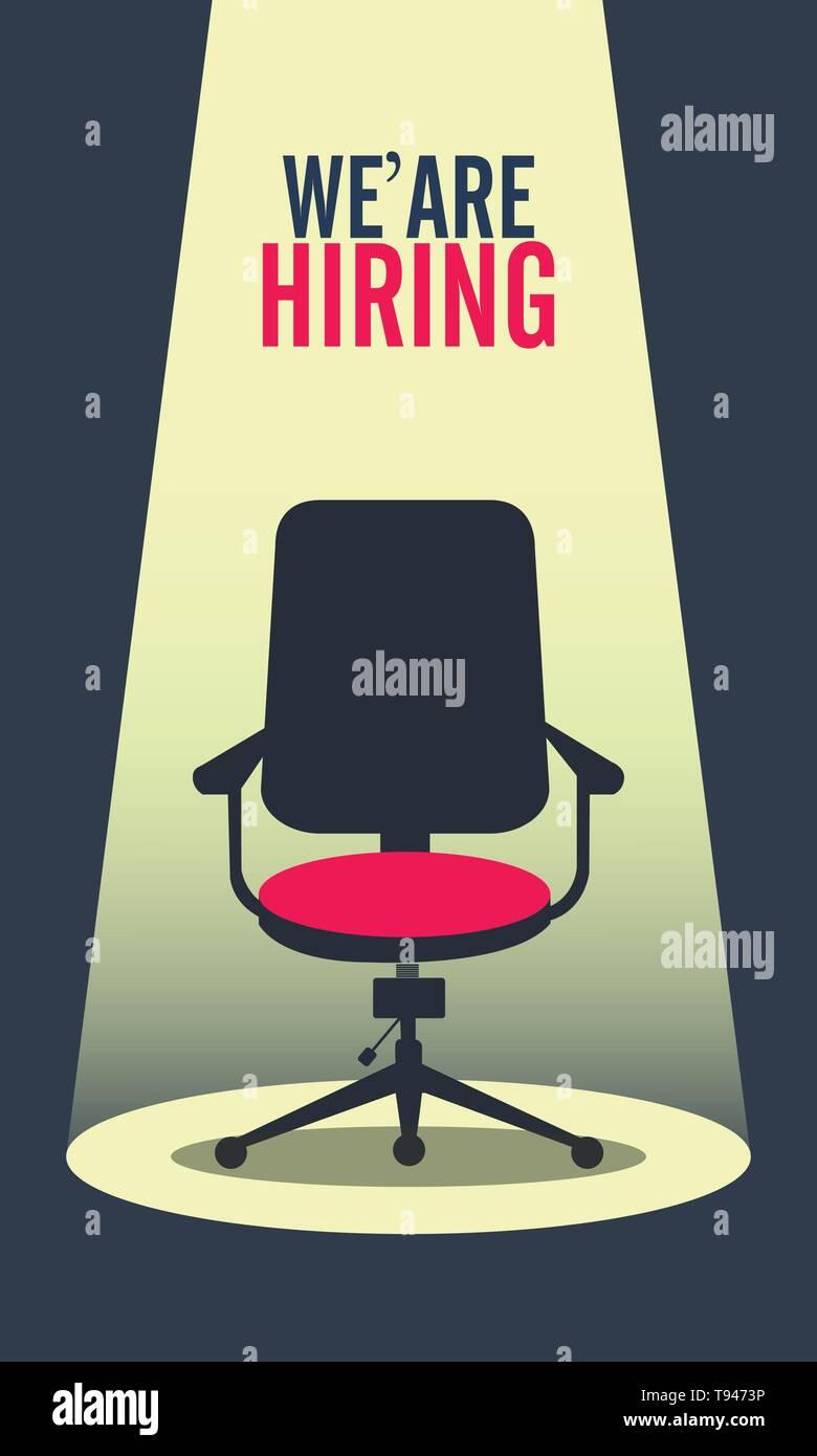 We are Hiring Poster or Banner Design. Job Vacancy Advertisement Concept Stock Vector Art & Illustration. Vector Image: 246570458 - Alamy