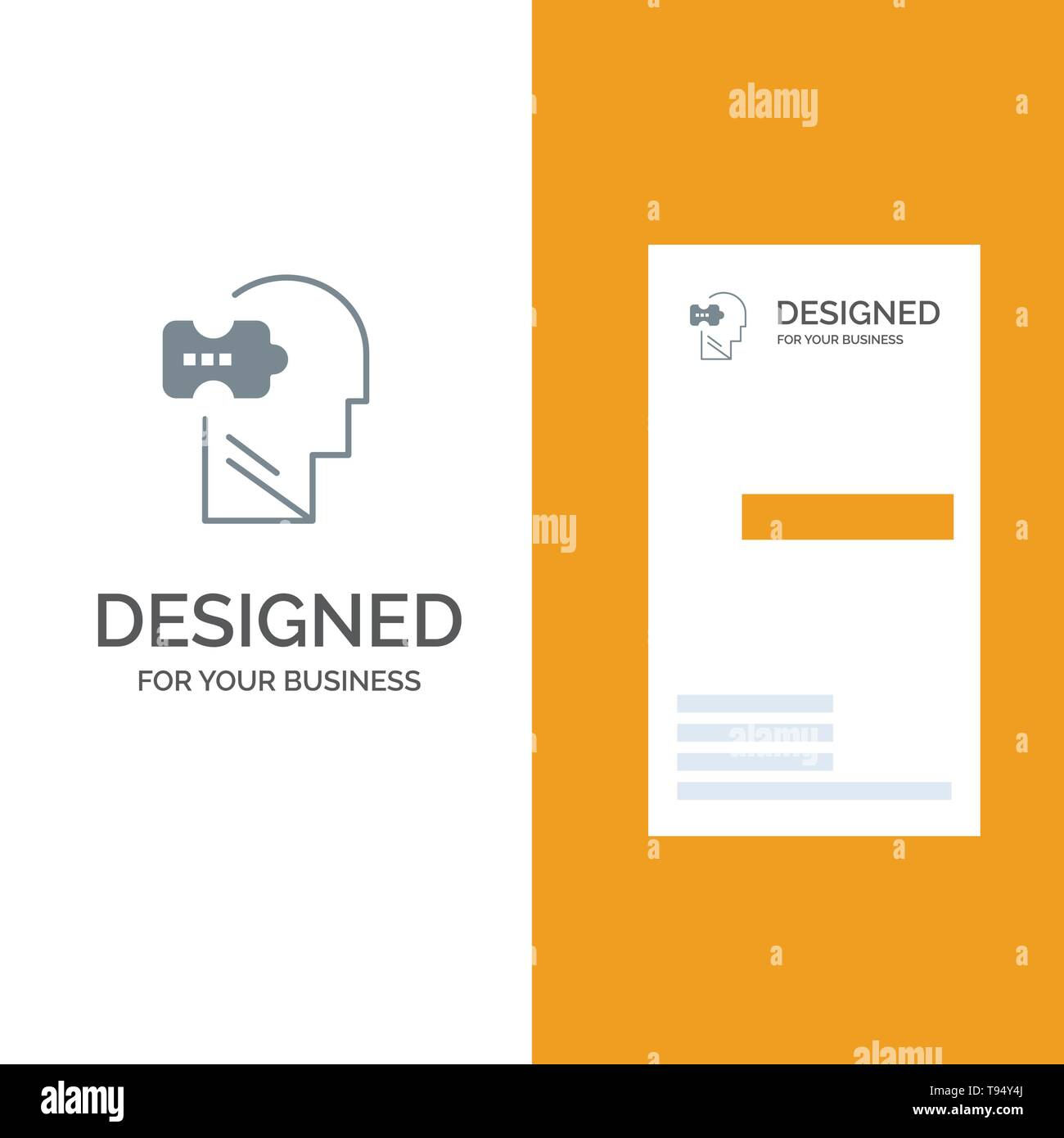 hight resolution of logic mind problem solving grey logo design and business card template