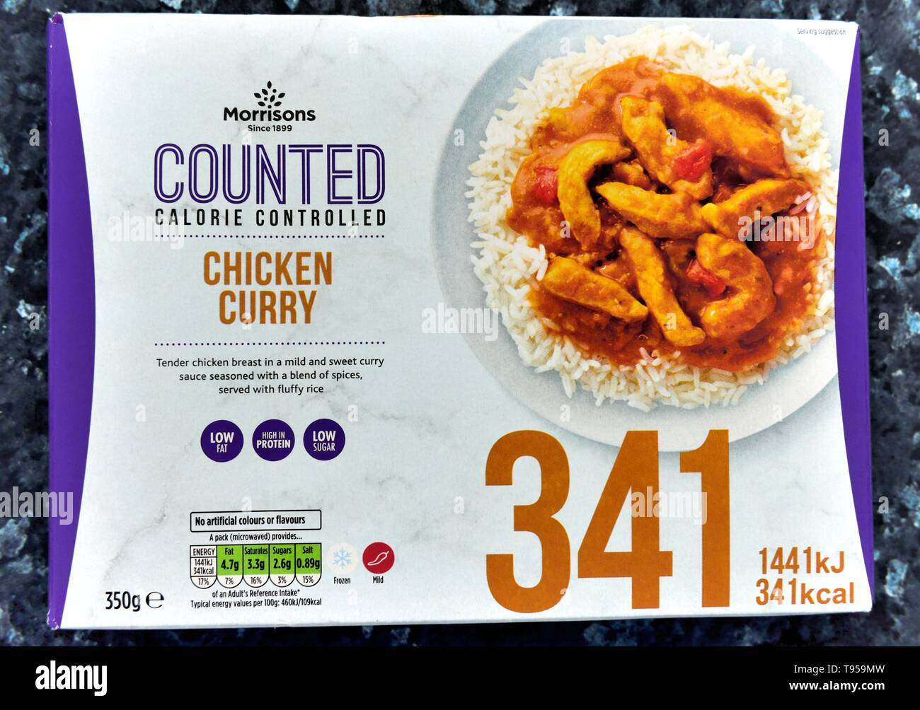 https www alamy com calorie controlledchicken curry microwave ready meal341kcallow fatlow sugar image246594457 html