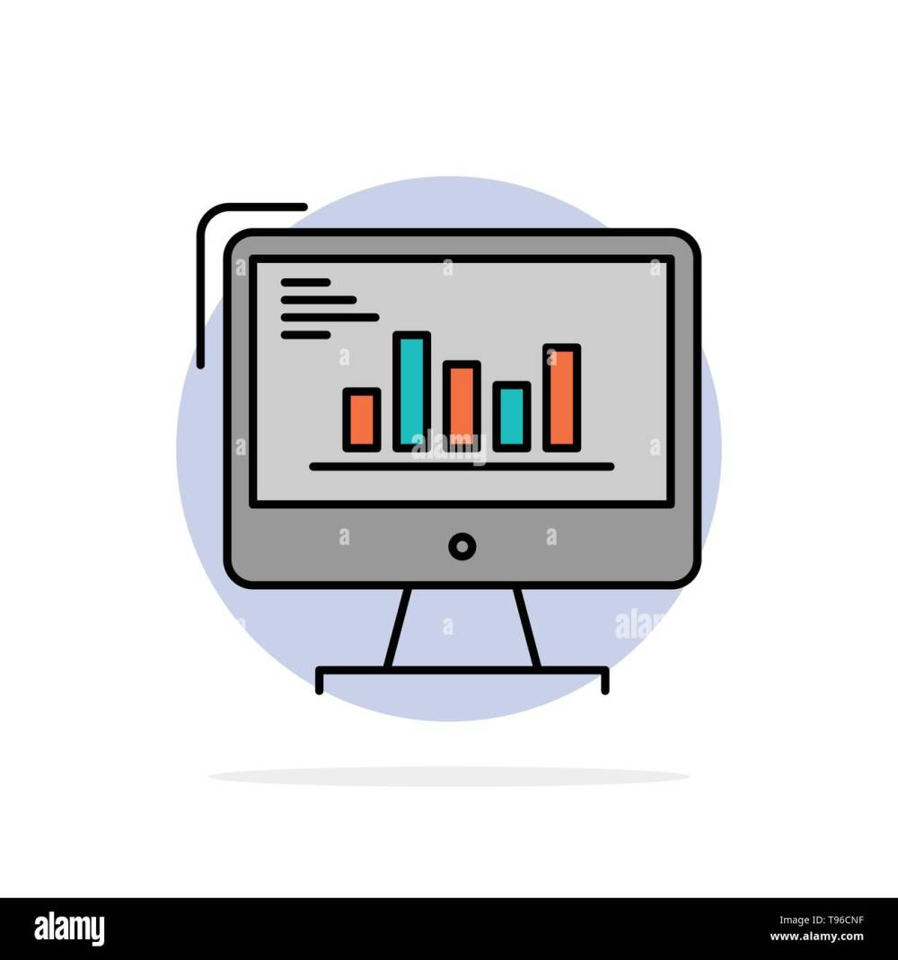 medium resolution of chart analytics business computer diagram marketing trends abstract circle background flat color icon