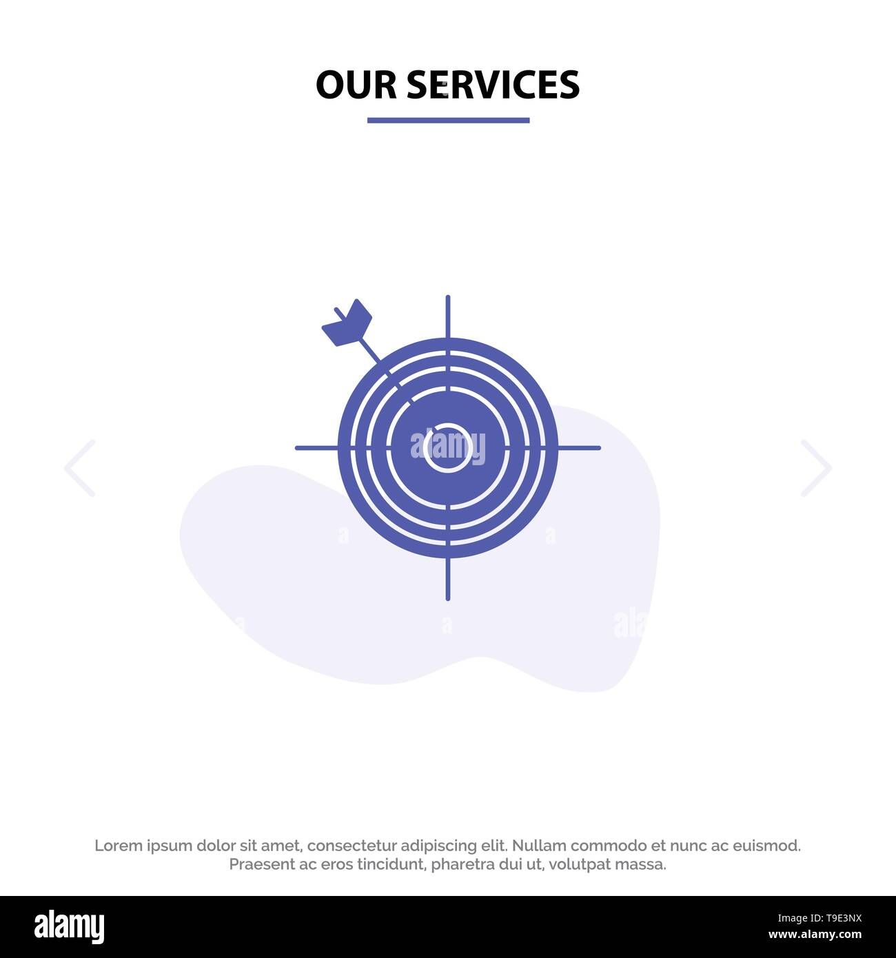 hight resolution of our services focus board dart arrow target solid glyph icon web card