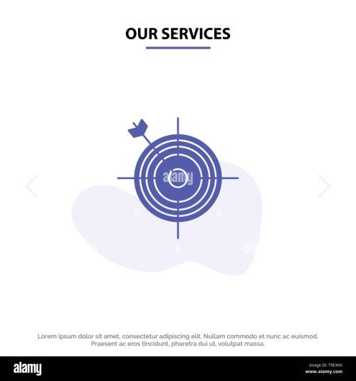 small resolution of our services focus board dart arrow target solid glyph icon web card