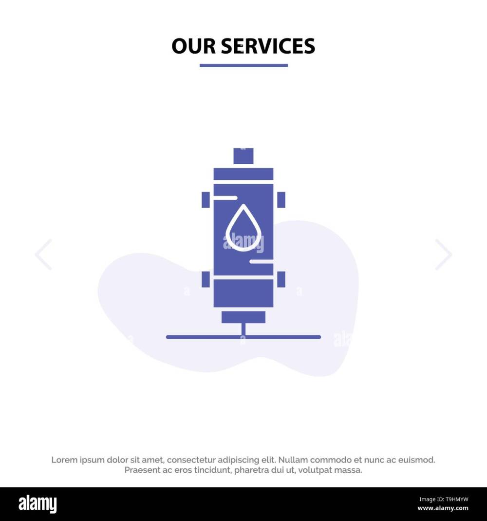 medium resolution of our services heater water heat hot gas geyser solid glyph icon web card template