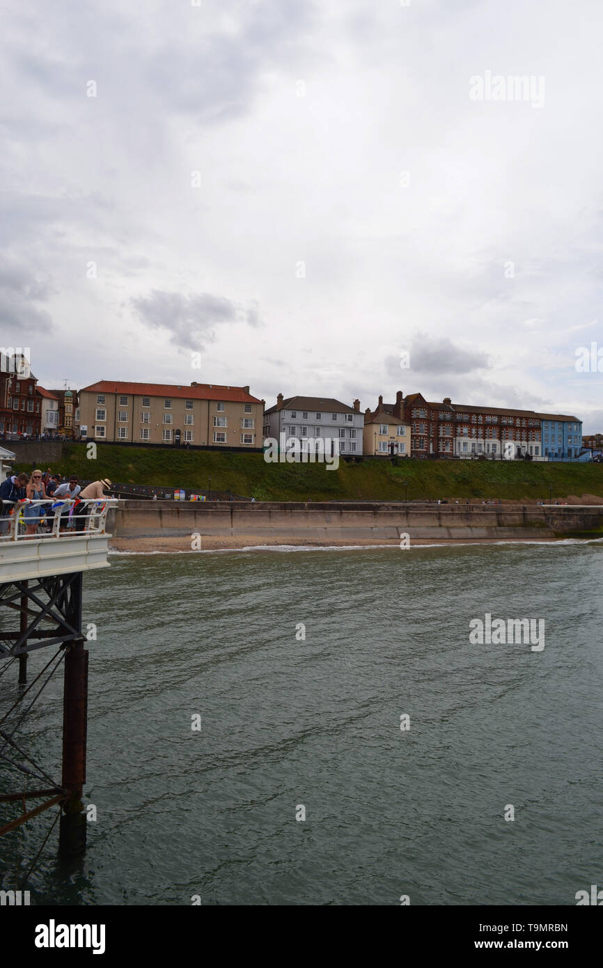 View From Cromer Pier Norfolk United Kingdom Stock Photo