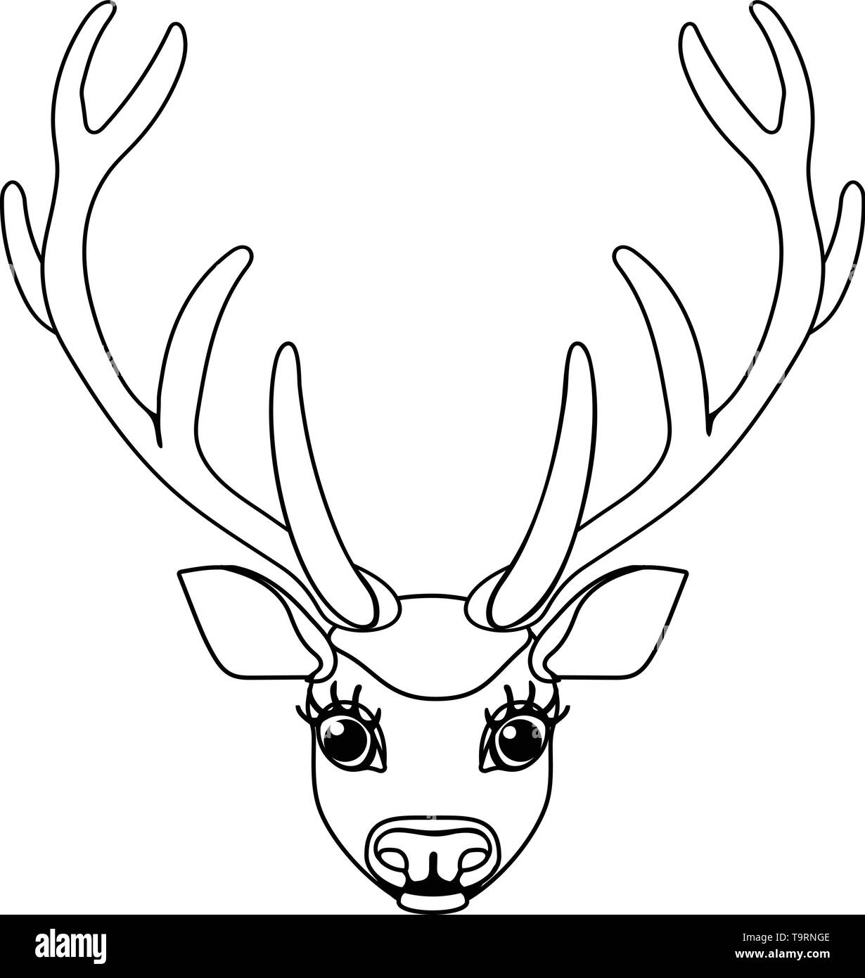 vector line cartoon animal