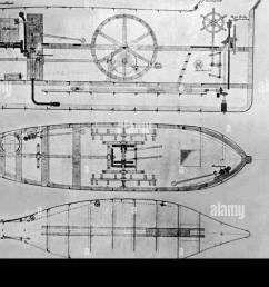 side sketch of the brandtaucher the first german submarine the brandtaucher sank in 1851 during acceptance trials on the kiel fjord  [ 1300 x 909 Pixel ]