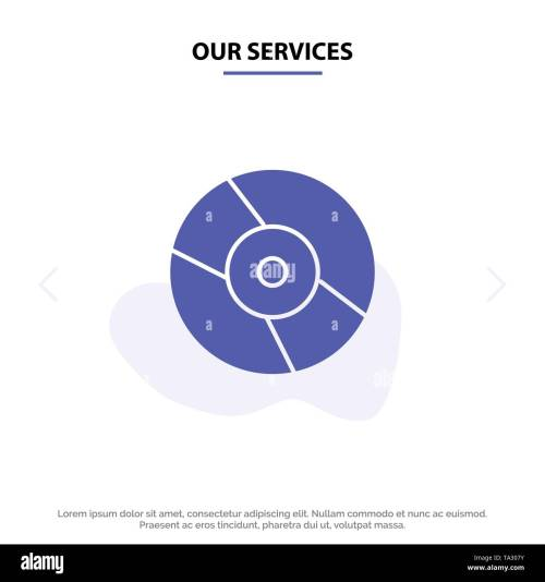 small resolution of our services cd dvd disk device solid glyph icon web card template