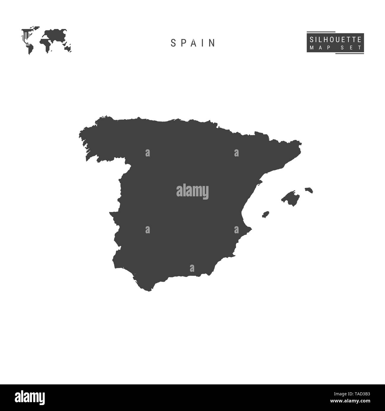 Spain Map Outline Stock Photos Amp Spain Map Outline Stock